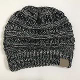 Super-Soft Knitted Ponytail Beanie Hat