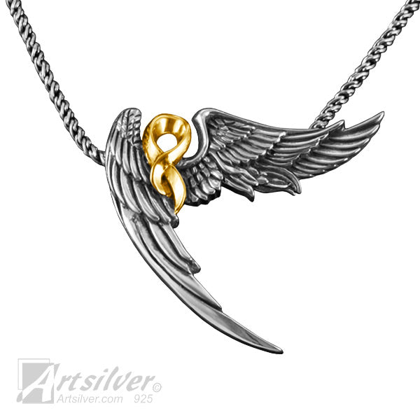 Silver Angel Wing Pendant - KS 350