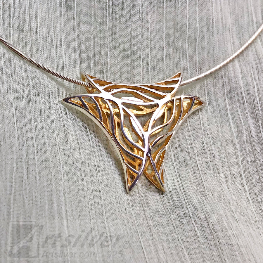 Inverted Wave Triangle Pendant Style - KS 015