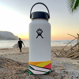 Waves in Color Boot for 32 & 40 oz Hydro Flask, design by Tom Veiga