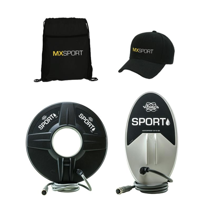 Whites Electronics - Whites MX Sport Metal Detector Pack with Two Coils - Sunny Mountain Prospectors
