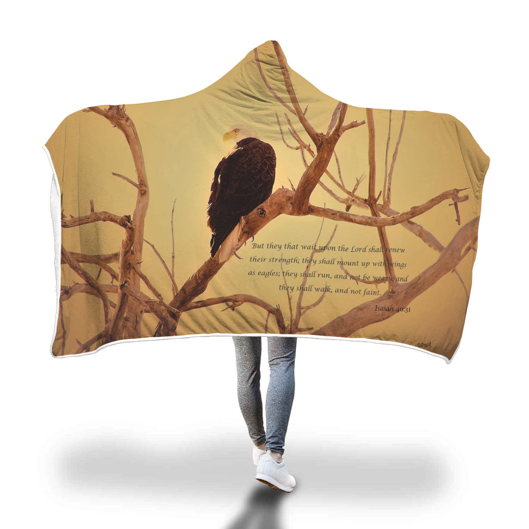 Wings Like Eagles Hooded Blanket