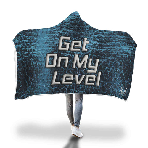 Hush Attire Blue Get On My Level Hooded Blanket