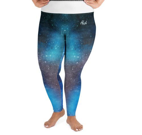 Blue Scuff Plus Size Leggings Front