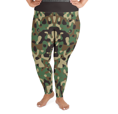 Camo Plus Size Leggings Front