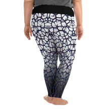 Purple Thorn Plus Size Leggings Back