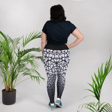 Purple Thorn Plus Size Leggings Back Model
