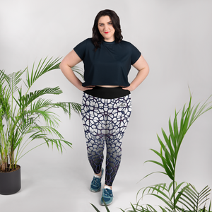 Purple Thorn Plus Size Leggings Front Model