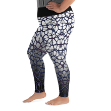 Purple Thorn Plus Size Leggings Left