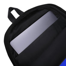 Inside view of the Blue Hush Emoji Backpack
