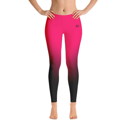 Hot Pink Ombre Leggings Front