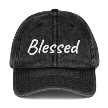 Load image into Gallery viewer, Hush Attire Blessed Vintage Cotton Twill Cap