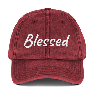 Hush Attire Blessed Vintage Cotton Twill Cap