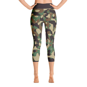 Hush Attire Camo Yoga Capri Leggings Back