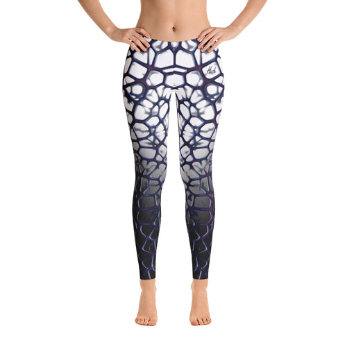 Purple Thorn Leggings Front