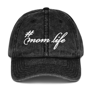# Mom Life Vintage Cotton Twill Cap