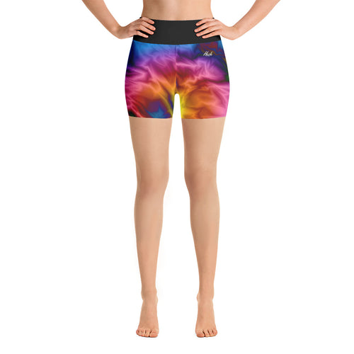 Hush Attire Smooth Color Yoga Shorts Front