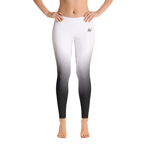 Hush Attire White Ombre Leggings Front