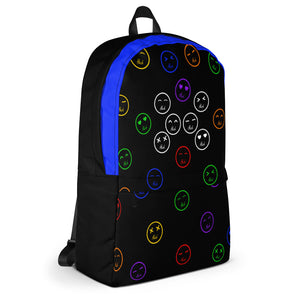Right Side of the Blue Hush Emoji Backpack