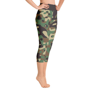 Hush Attire Camo Yoga Capri Leggings Right Side