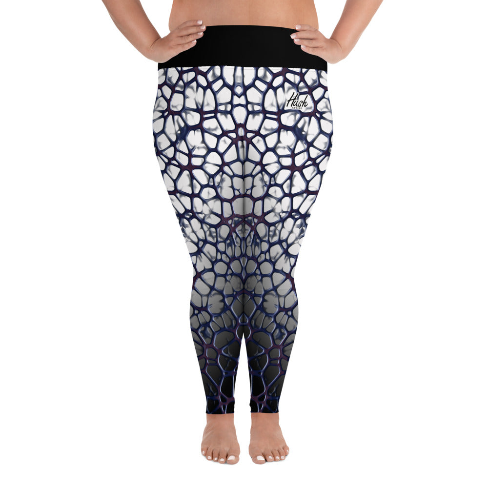 Purple Thorn Plus Size Leggings Front