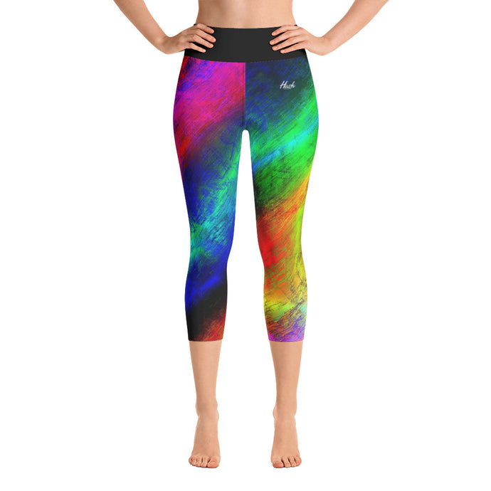 Hush Attire Color Flect Yoga Capri Leggings Front