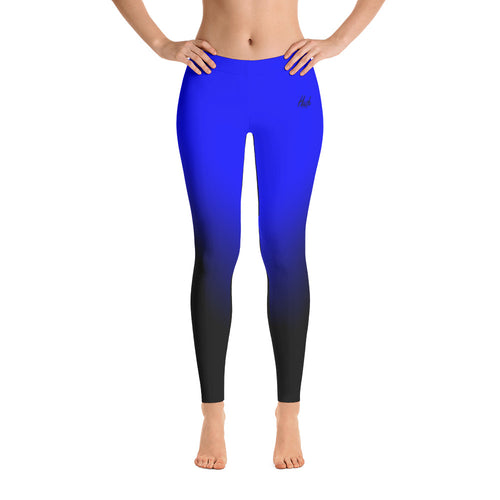Hush Attire Blue Ombre Leggings Front