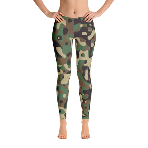 Hush Attire Camo Leggings Front