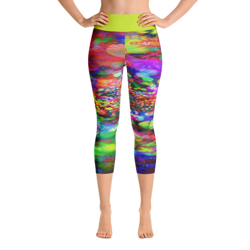 Hippie Yoga Capri Leggings Front