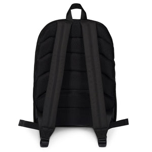 Blue Hush Emoji Backpack back