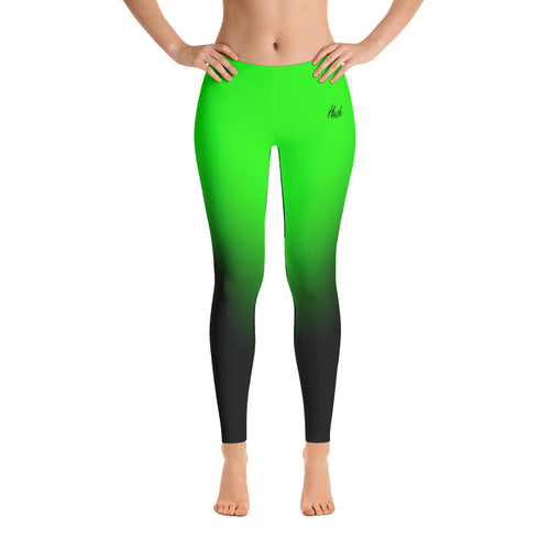 Green Ombre Leggings Front