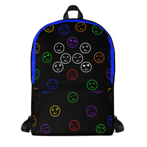 Blue Hush Emoji Backpack front