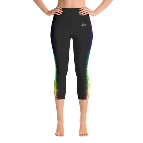 Hush Attire Color Shock Yoga Capri Leggings Front
