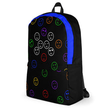 Blue Hush Emoji Backpack left side