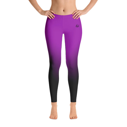 Purple Ombre Leggings Front