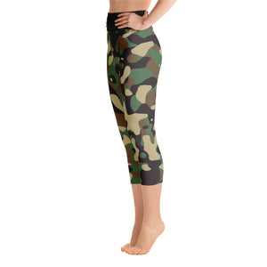 Hush Attire Camo Yoga Capri Leggings Left Side