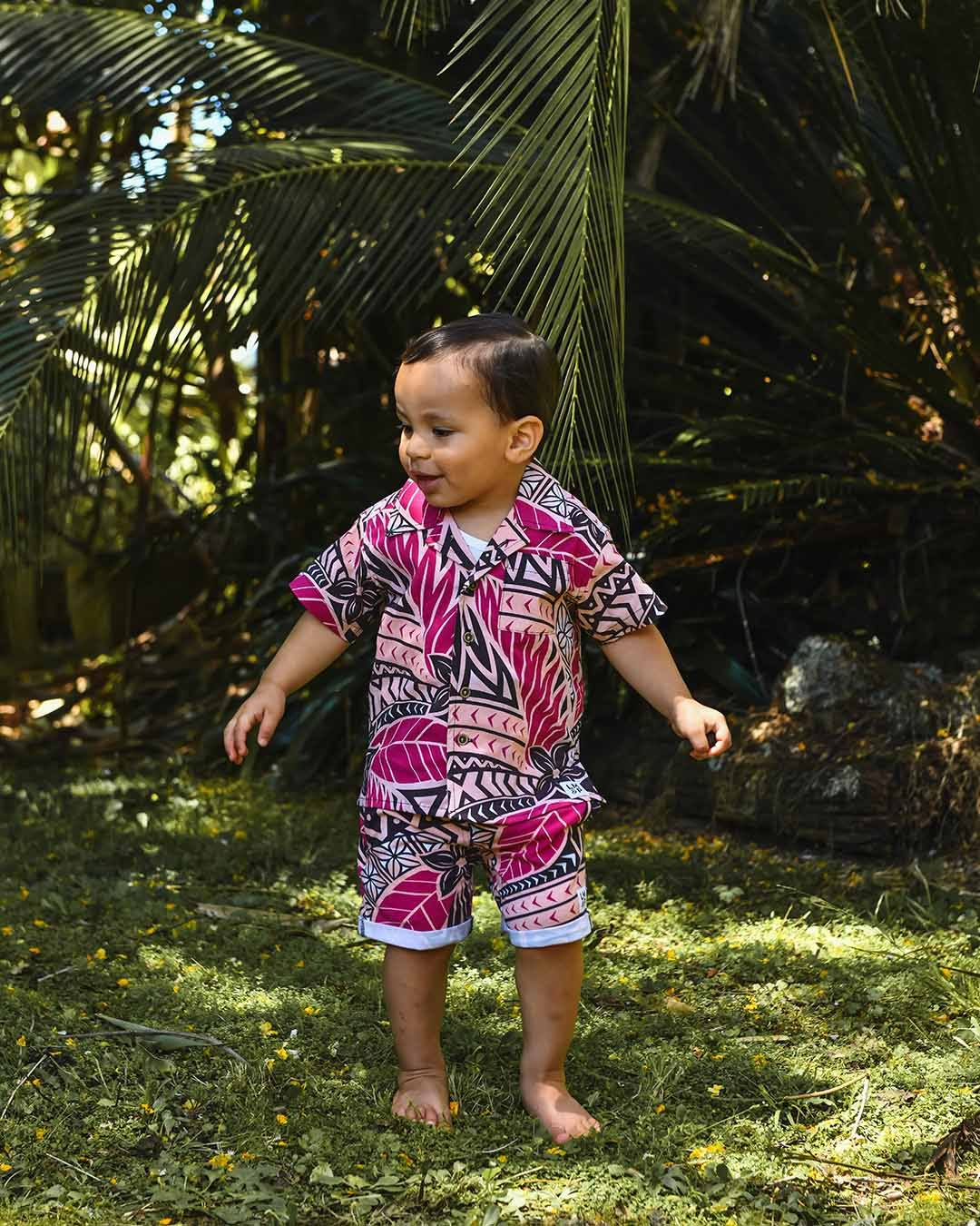 Kanoa Baby Short Sleeve Shirt - Moana Sunset
