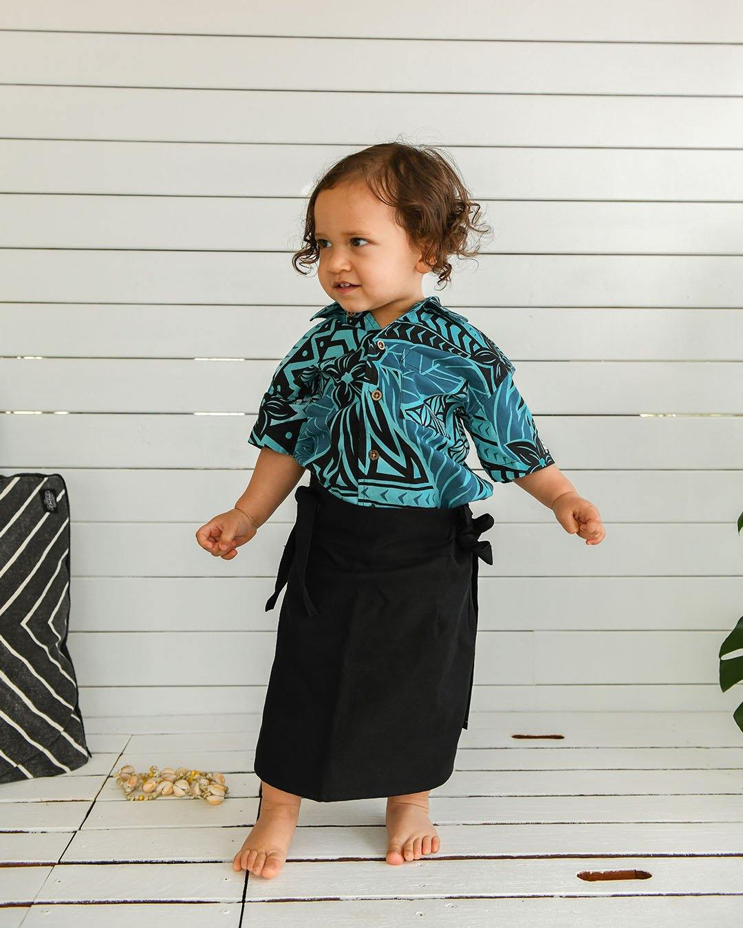 Kanoa Baby Short Sleeve Shirt - Moana Blue