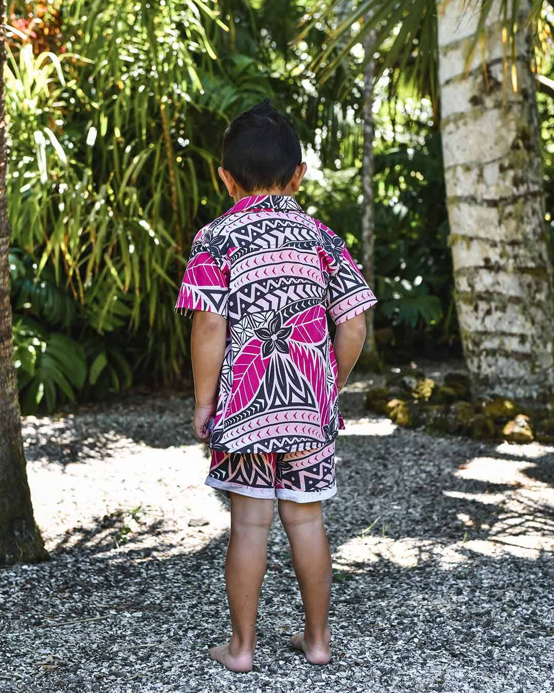 Kanoa Kids Short Sleeve Shirt - Moana Sunset