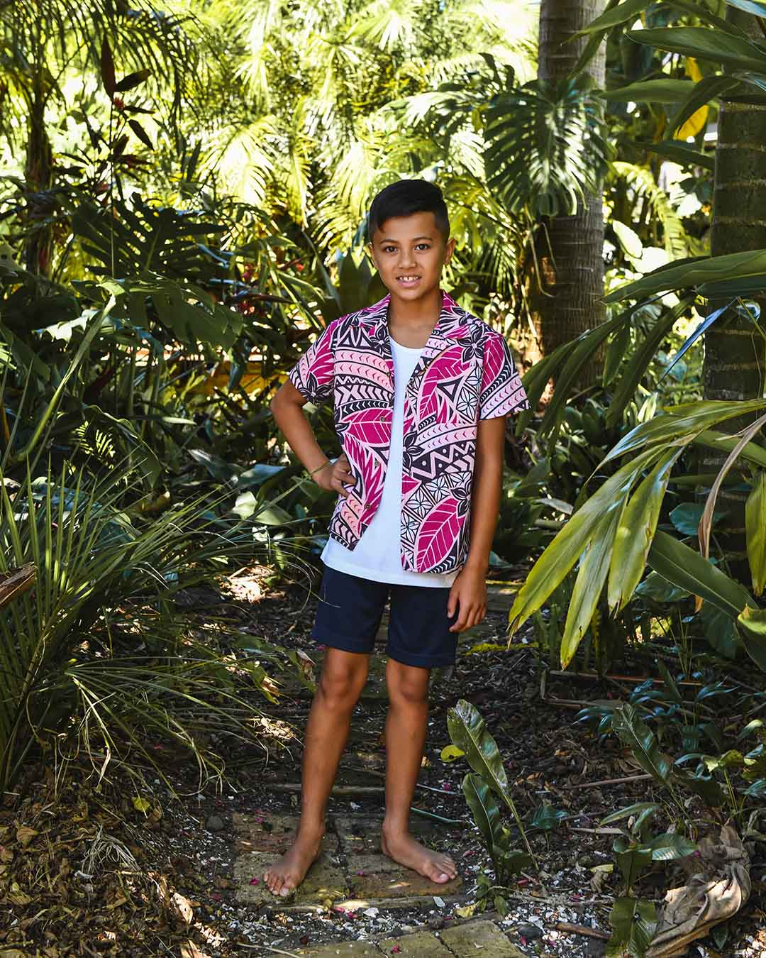 Kanoa Tween Short Sleeve Shirt - Moana Sunset