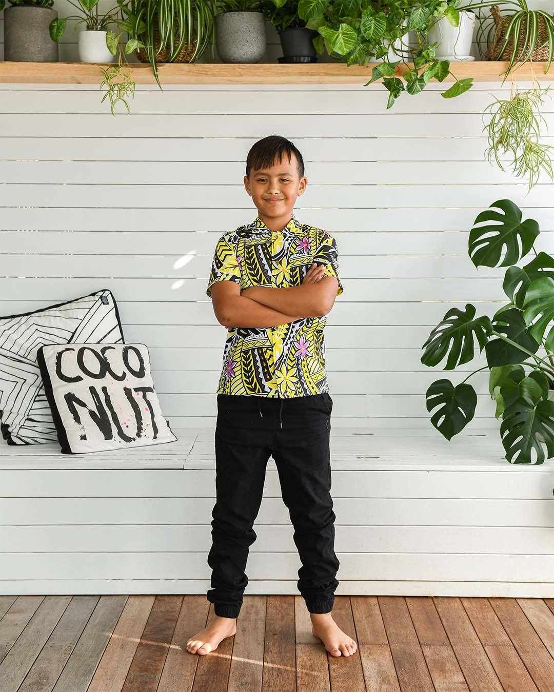 Kanoa Tween Short Sleeve Shirt - Island in The Sun