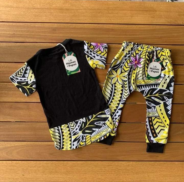Keanu Kids Tee & Drop Pants Set - Island In The Sun