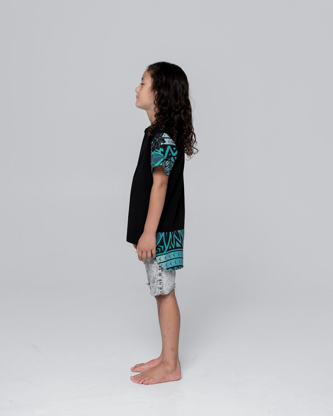 Keanu Kids Sleeve Drop Hem T-Shirt - Moana Blue