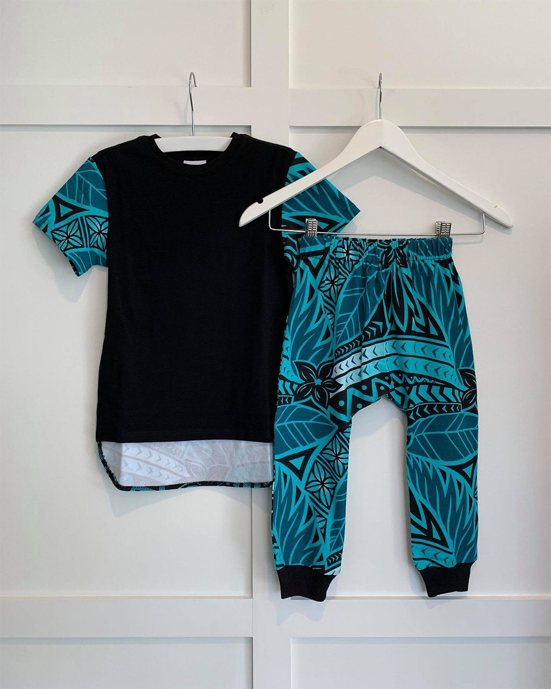 Keanu Kids Tee & Drop Pants Set