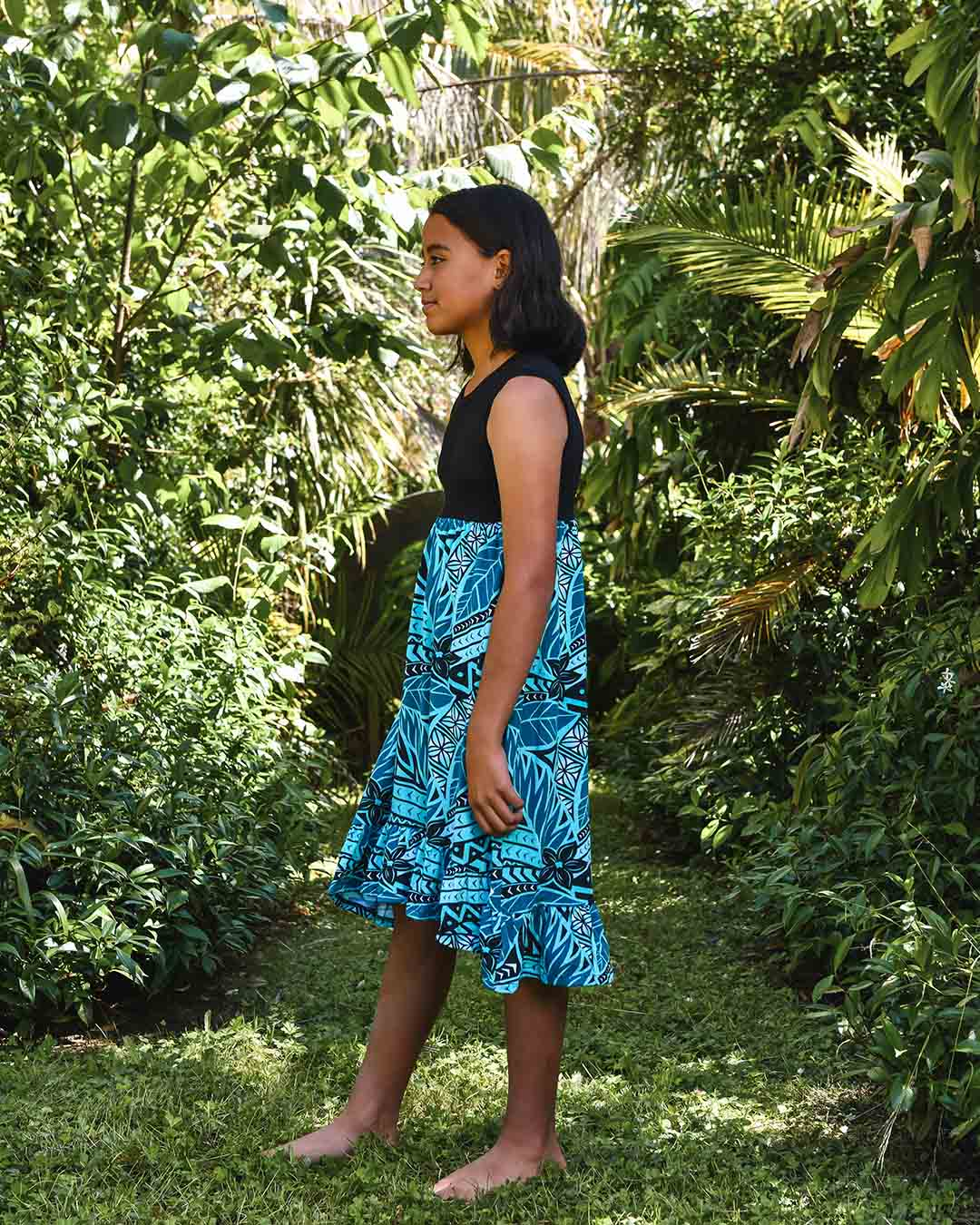 Melino Kids Summer Dress - Moana Blue