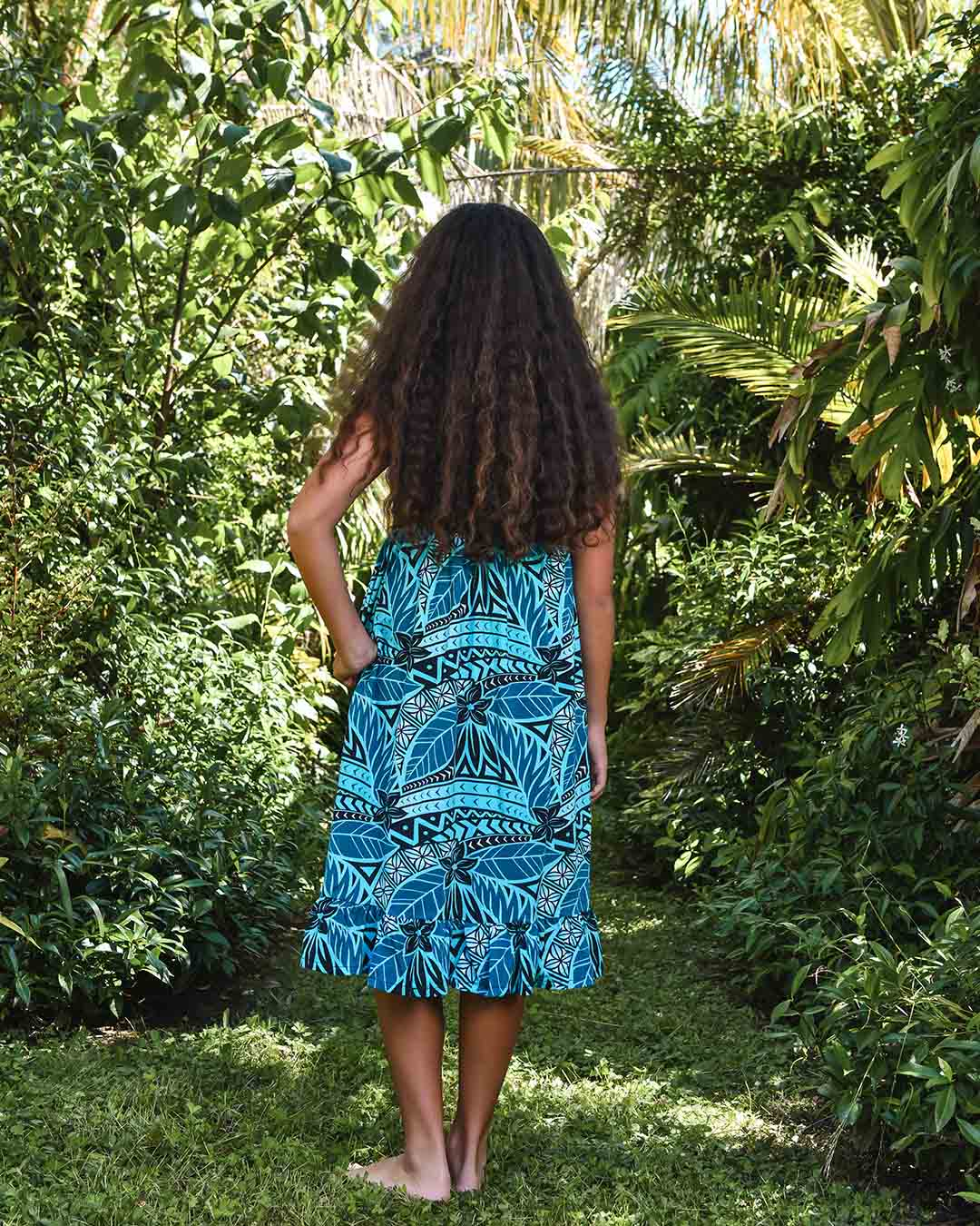 Melino Tween Summer Dress - Moana Blue