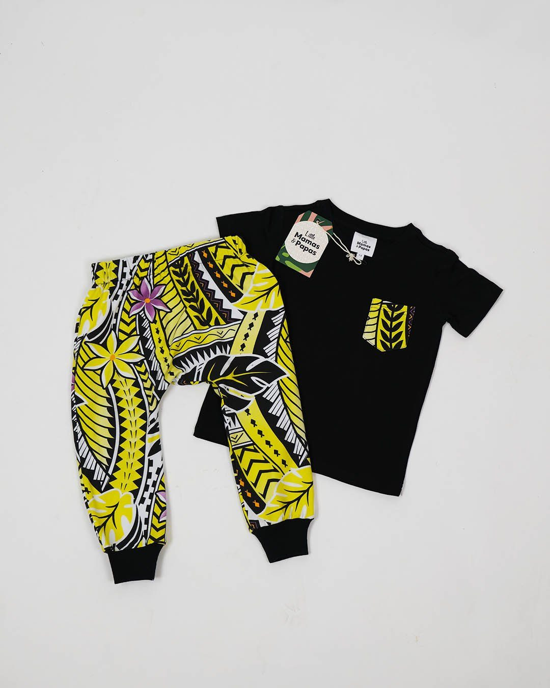 Tama Baby Tee & Drop Pants Set - Island in The Sun