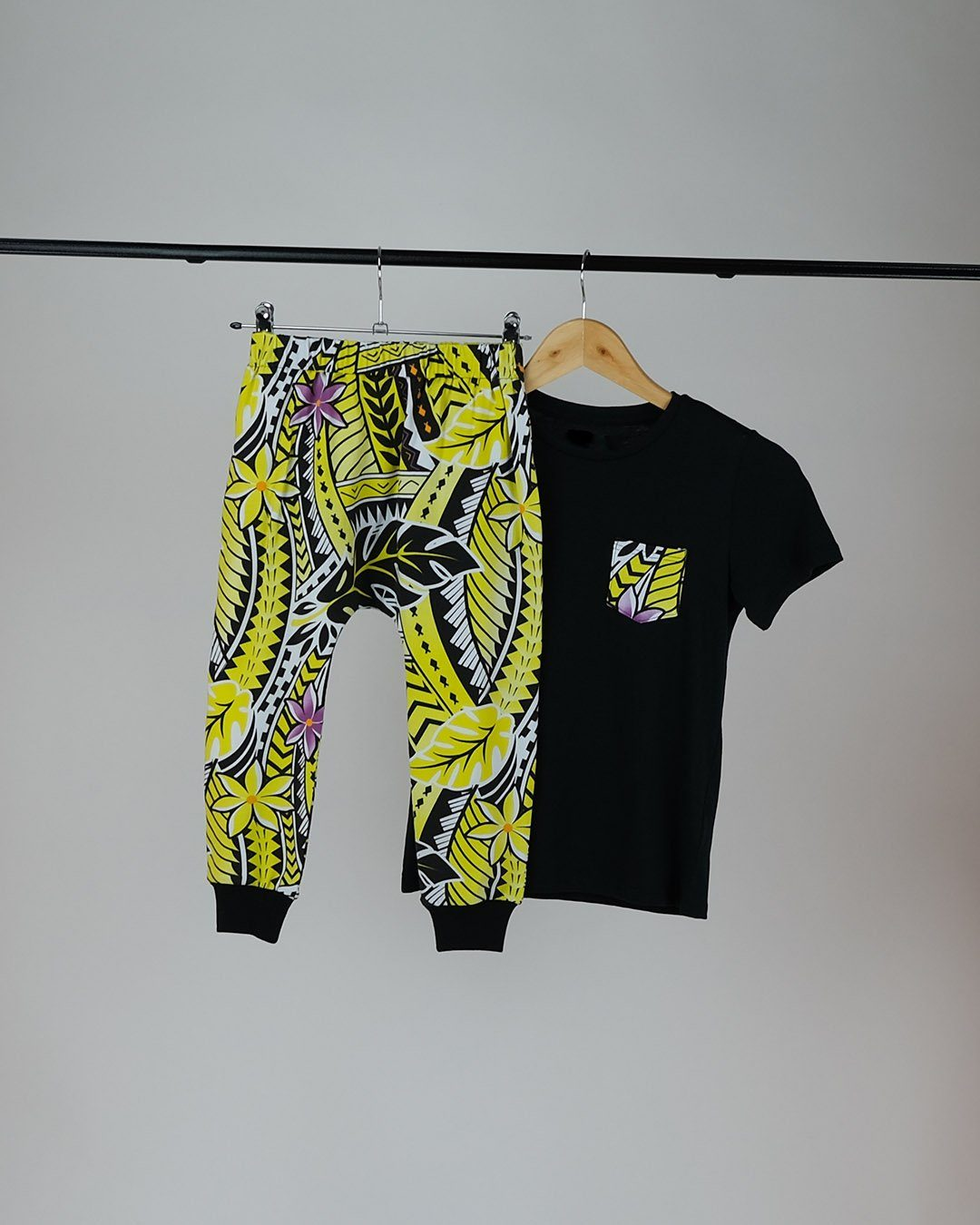 Tama Kids Tee & Drop Pants Set - Island in The Sun