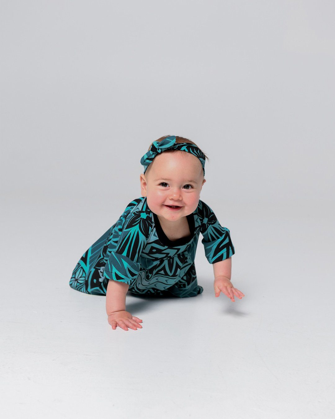 Tiare Baby Frill Sleeve Dress - Moana Blue