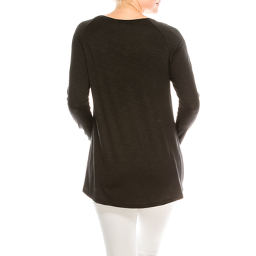 Style #2800 - Black | Wonderful And Young | Knits & Tees